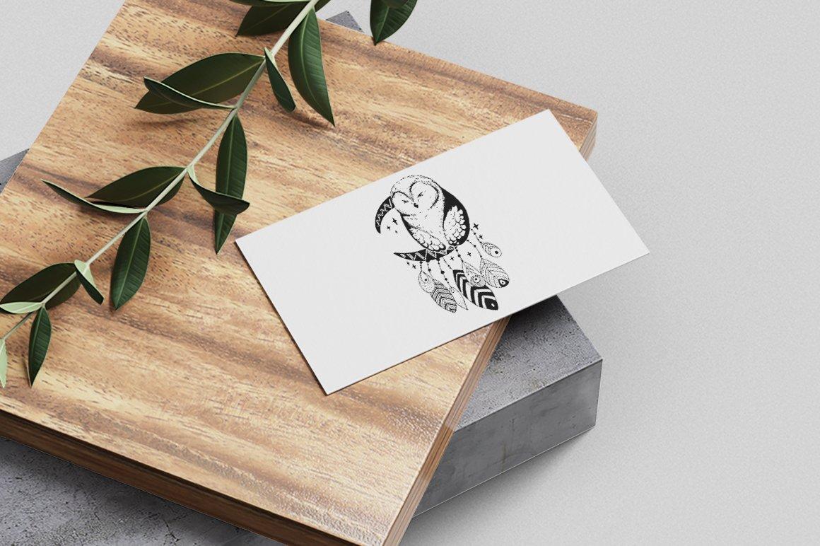Dream catcher   Owl illustration   Line art example image 3