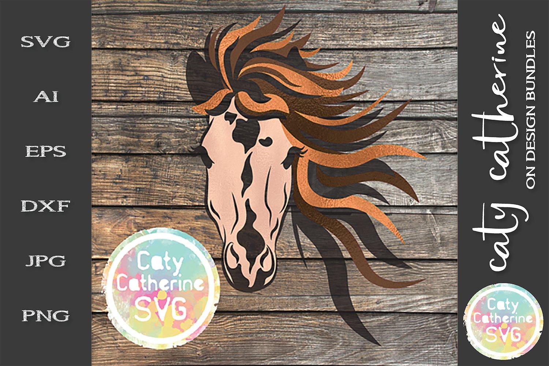 Download Horses Face With Long Mane Svg Cut File 244754 Svgs Design Bundles