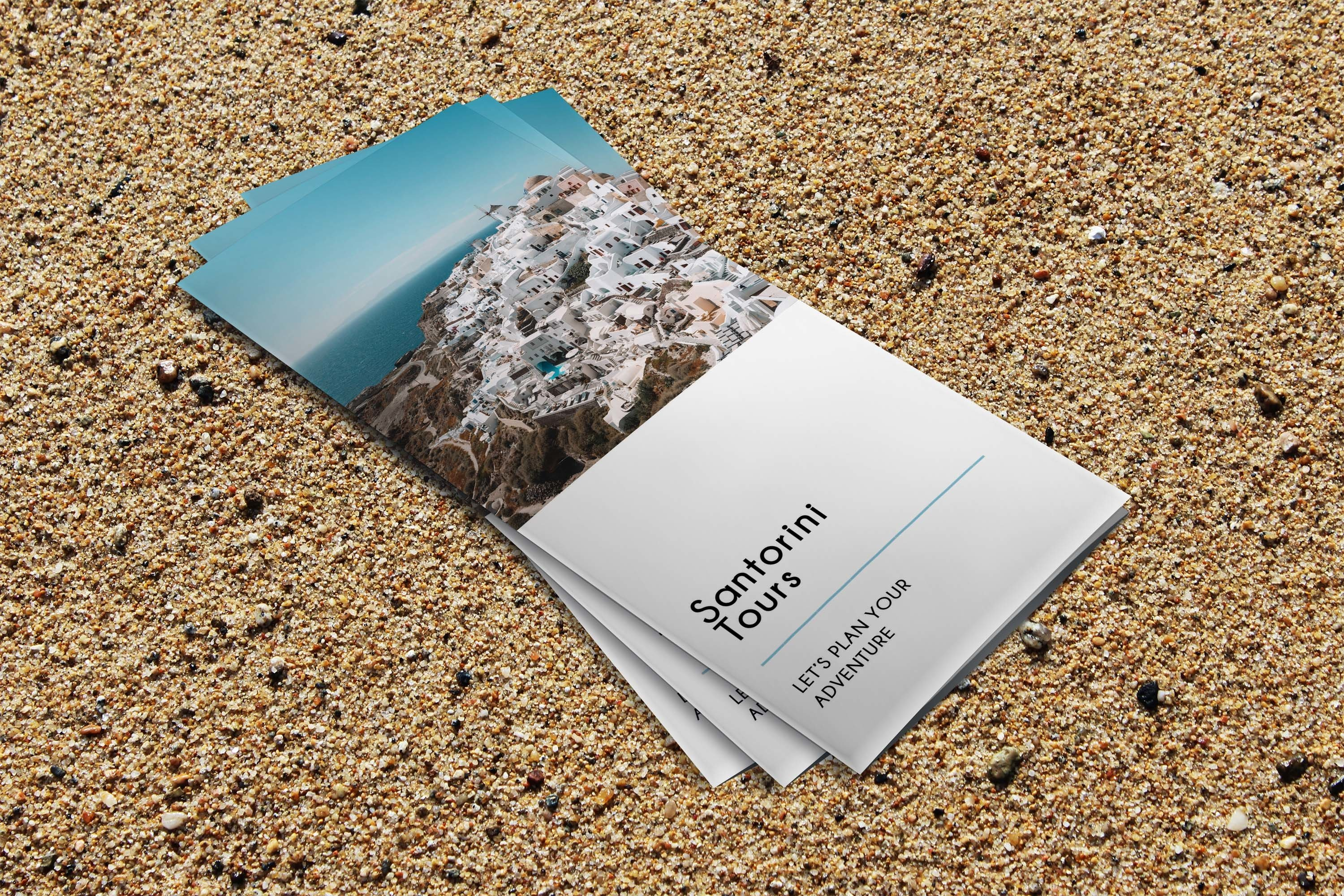 Trifold Agency Travel Brochure Editable PSD Templates example image 7