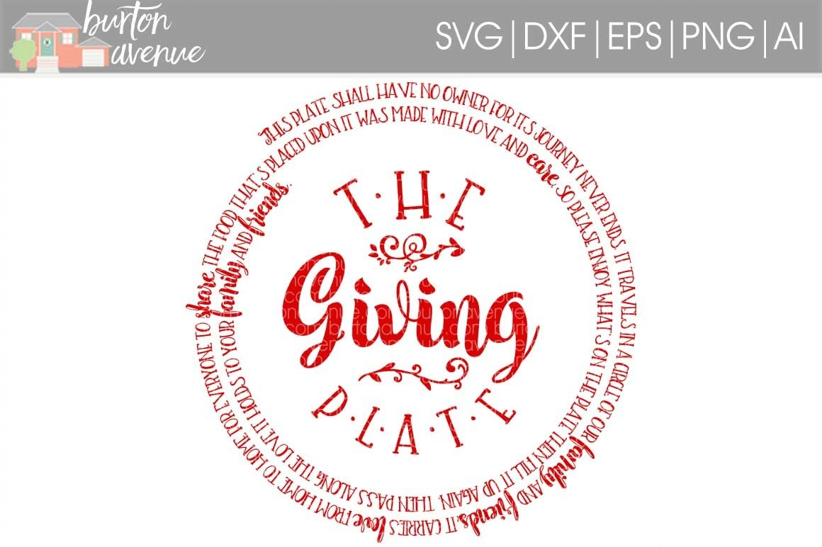 The Giving Plate Cut File Thanksgiving Svg Dxf Eps Ai Png 35732 Svgs Design Bundles