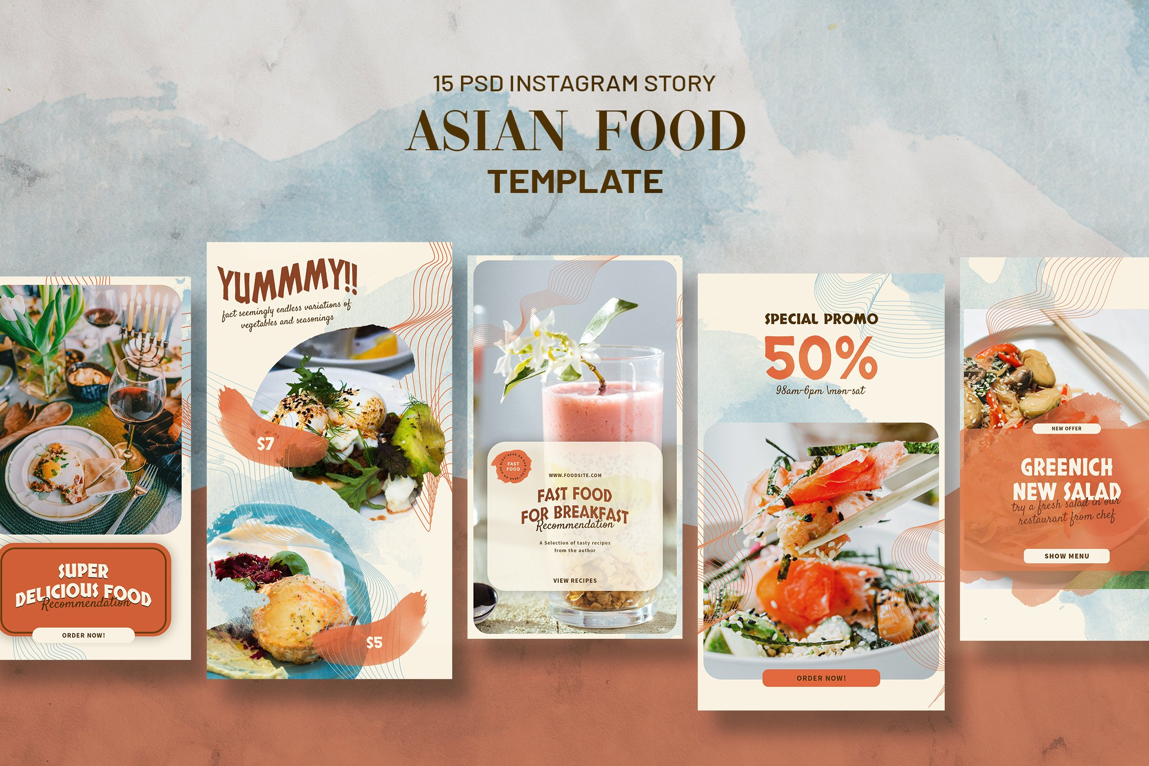 Asian Food Instagram Stories Template example image 1