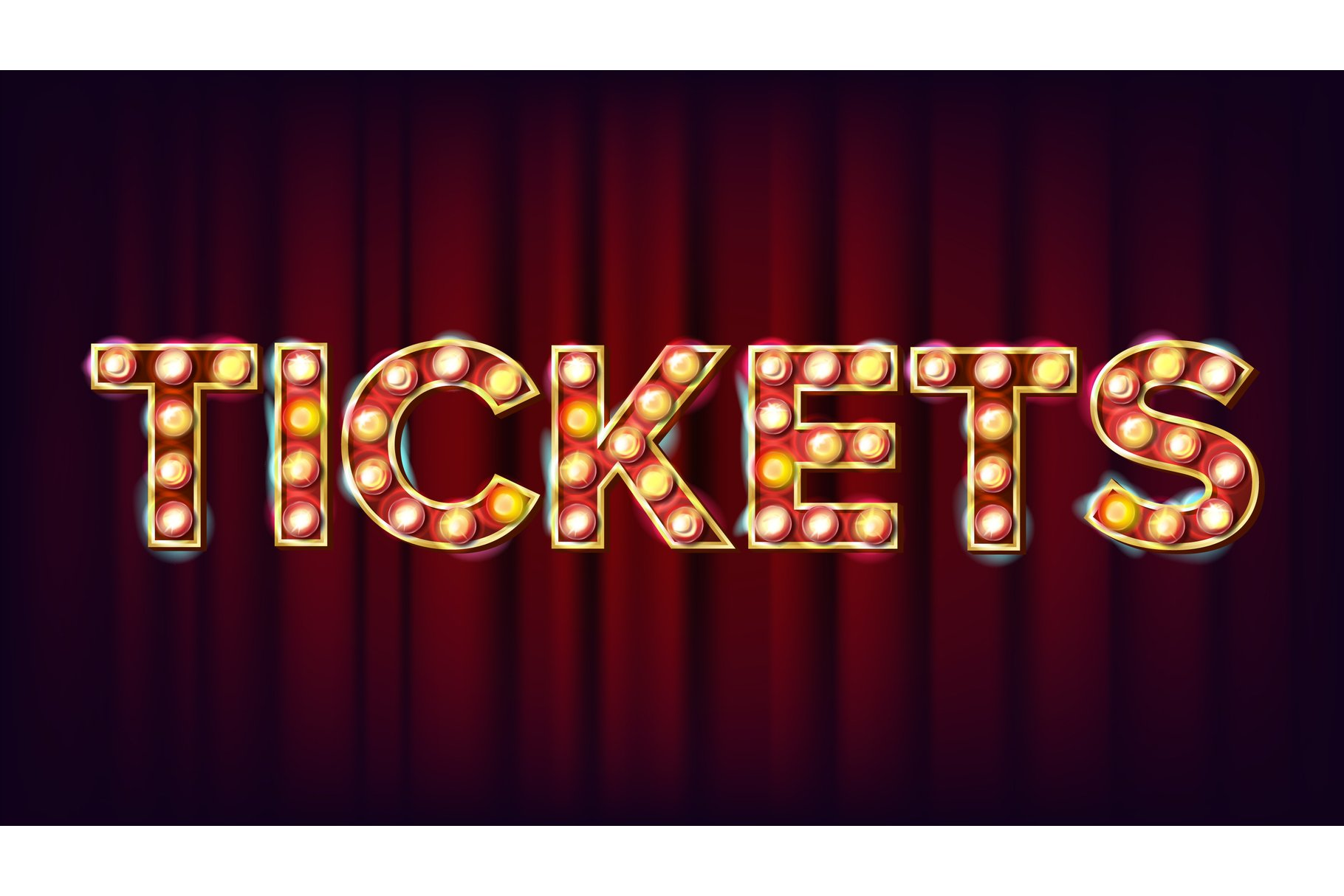 Tickets Banner Sign Vector. For Arts Festival Events Design. example image 1