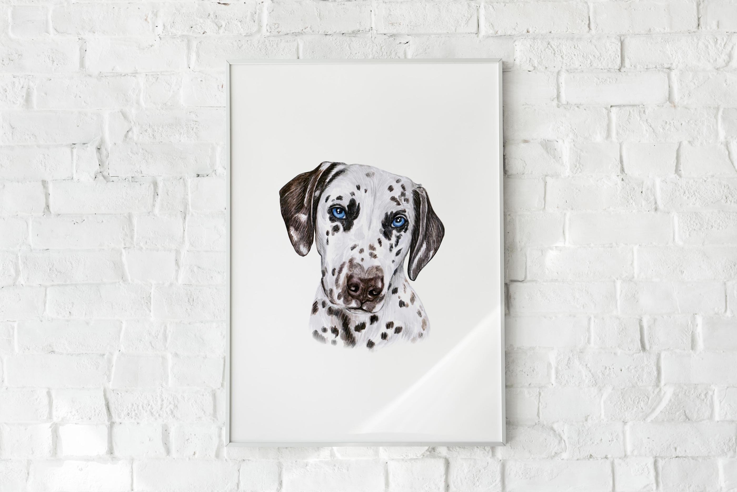 PART 1. Watercolor illustration set DOG breeds. Cute 20 dogs example image 9