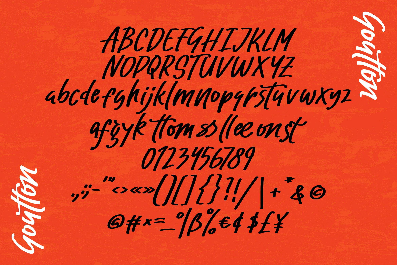 Goutton - Stylized Sans Font example image 2