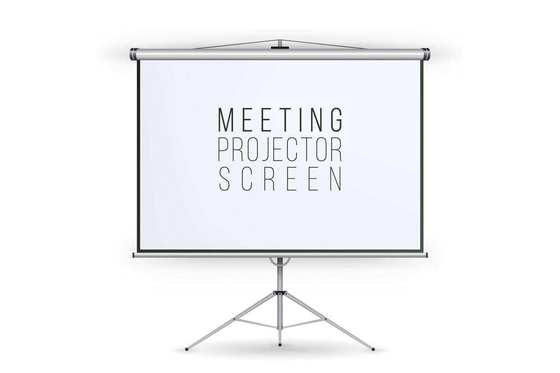 Meeting Projector Screen Vector. example image 1
