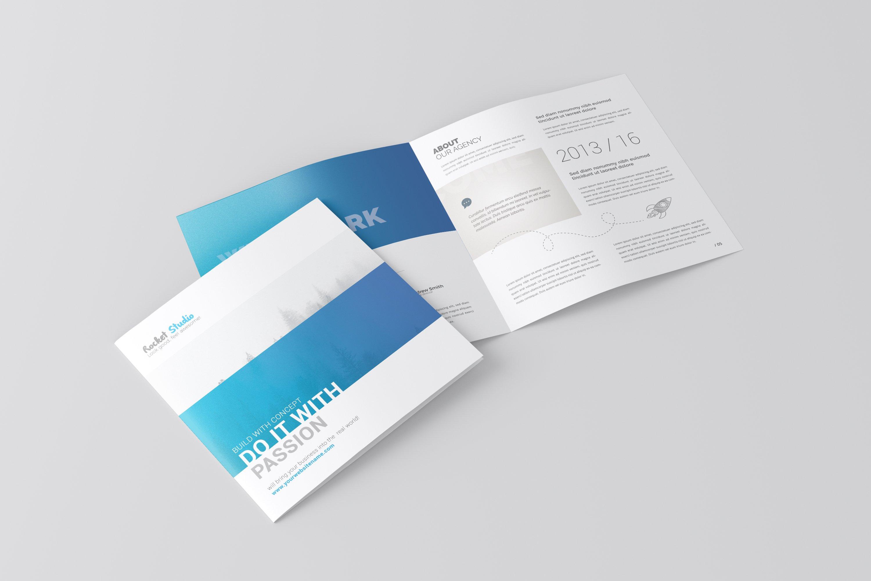 Square Bi-fold Brochure Mockup example image 1