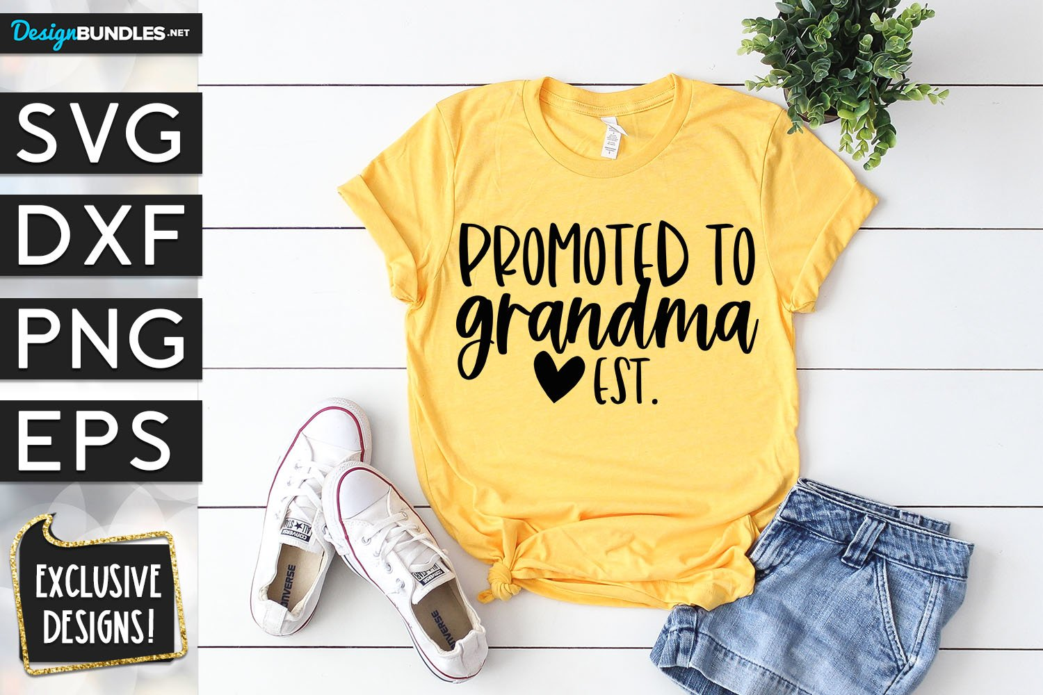 Promoted To Grandma SVG DXF PNG EPS example image 1
