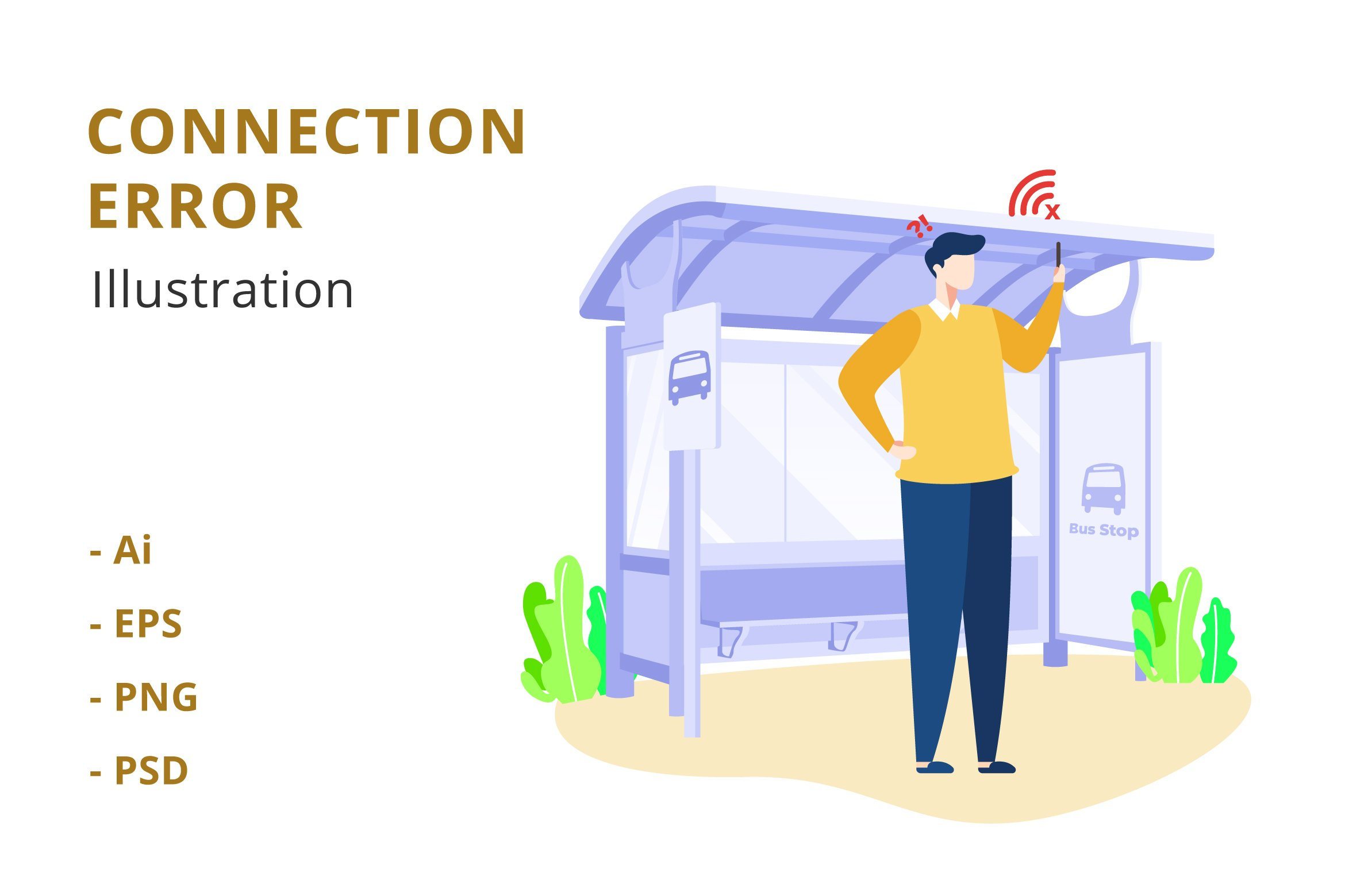 Connection Error Illustration example image 1