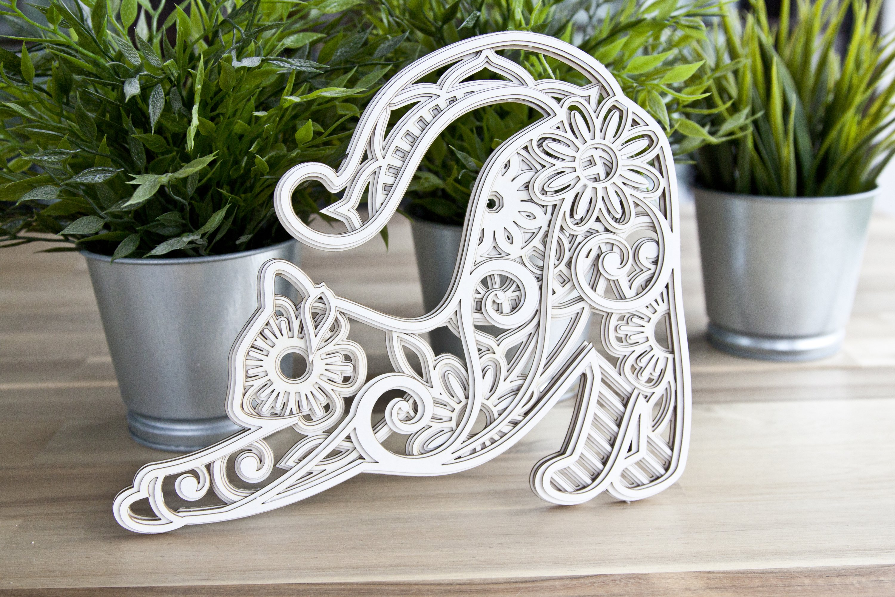 Download 3D Layered Cat Mandala cut file for crafters 5layers ...