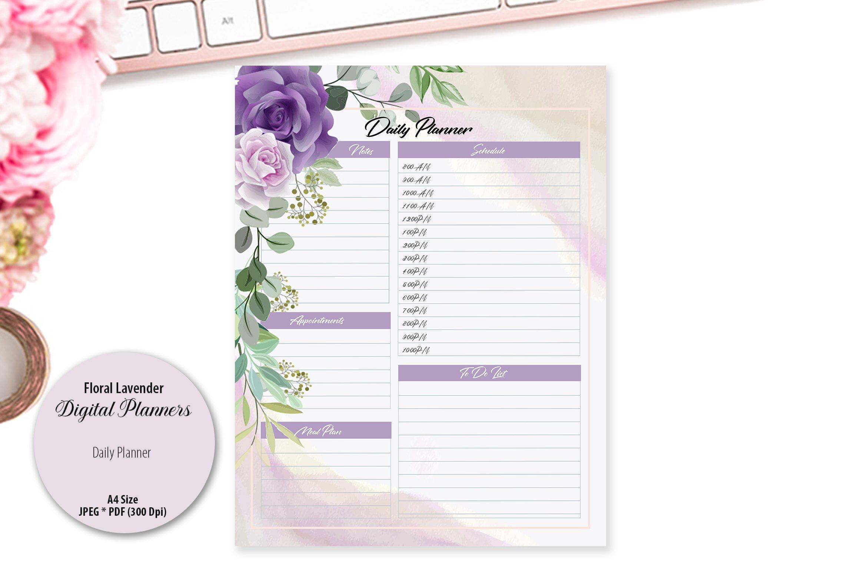 Floral Lavender Digital Planner example image 2