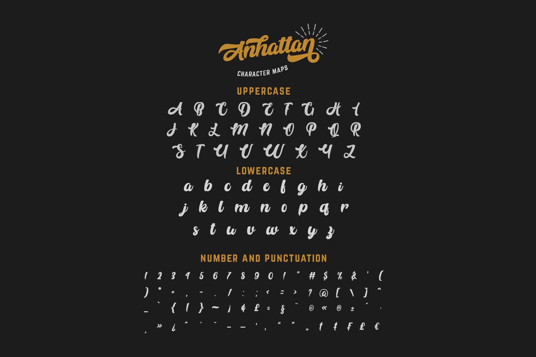Anhattan - Retro Bold Script Font example image 13