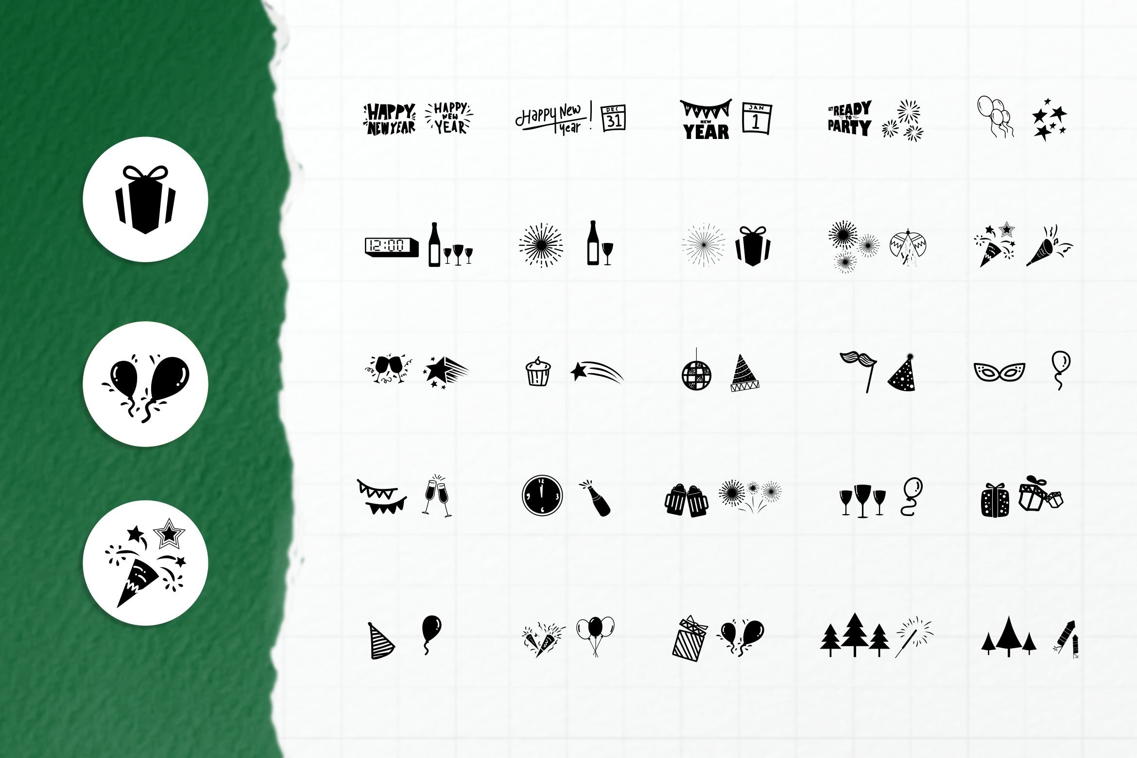 New Year Dingbats example image 4