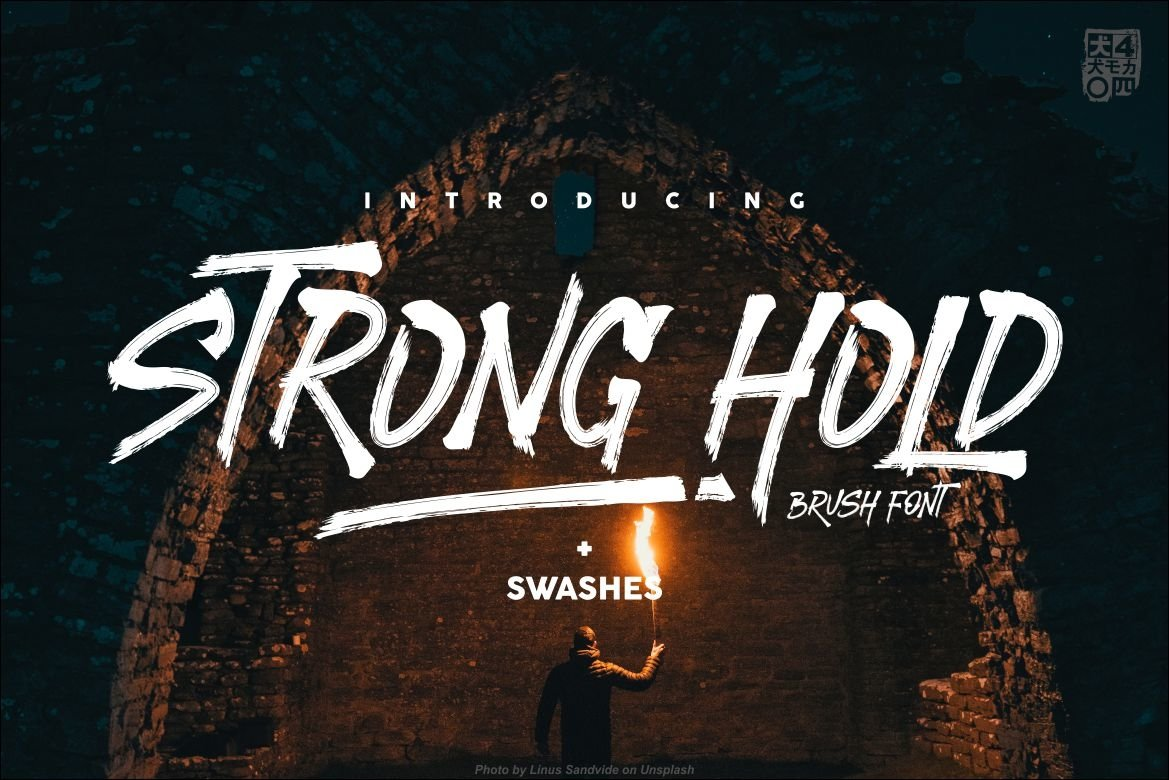 STRONGHOLD Brush font example image 1
