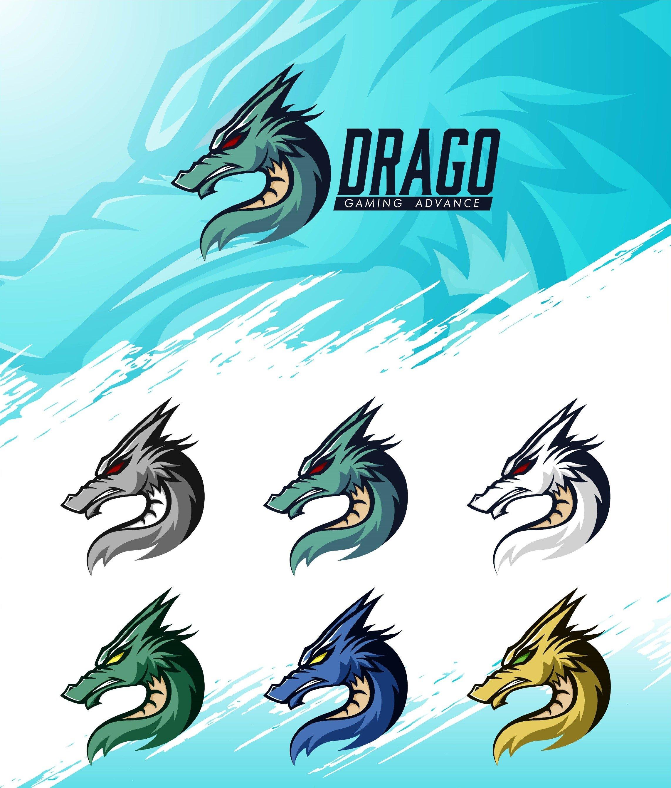 Dragon Head Logo Template example image 2