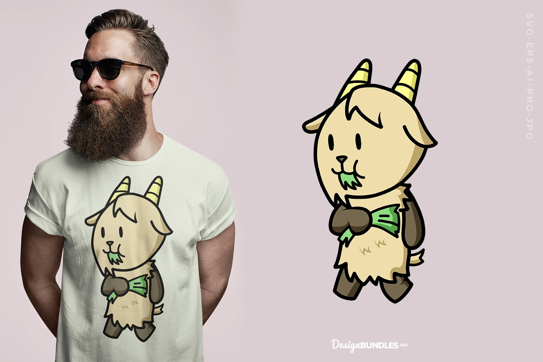 Cute Capricorn T-Shirt Design example image 1