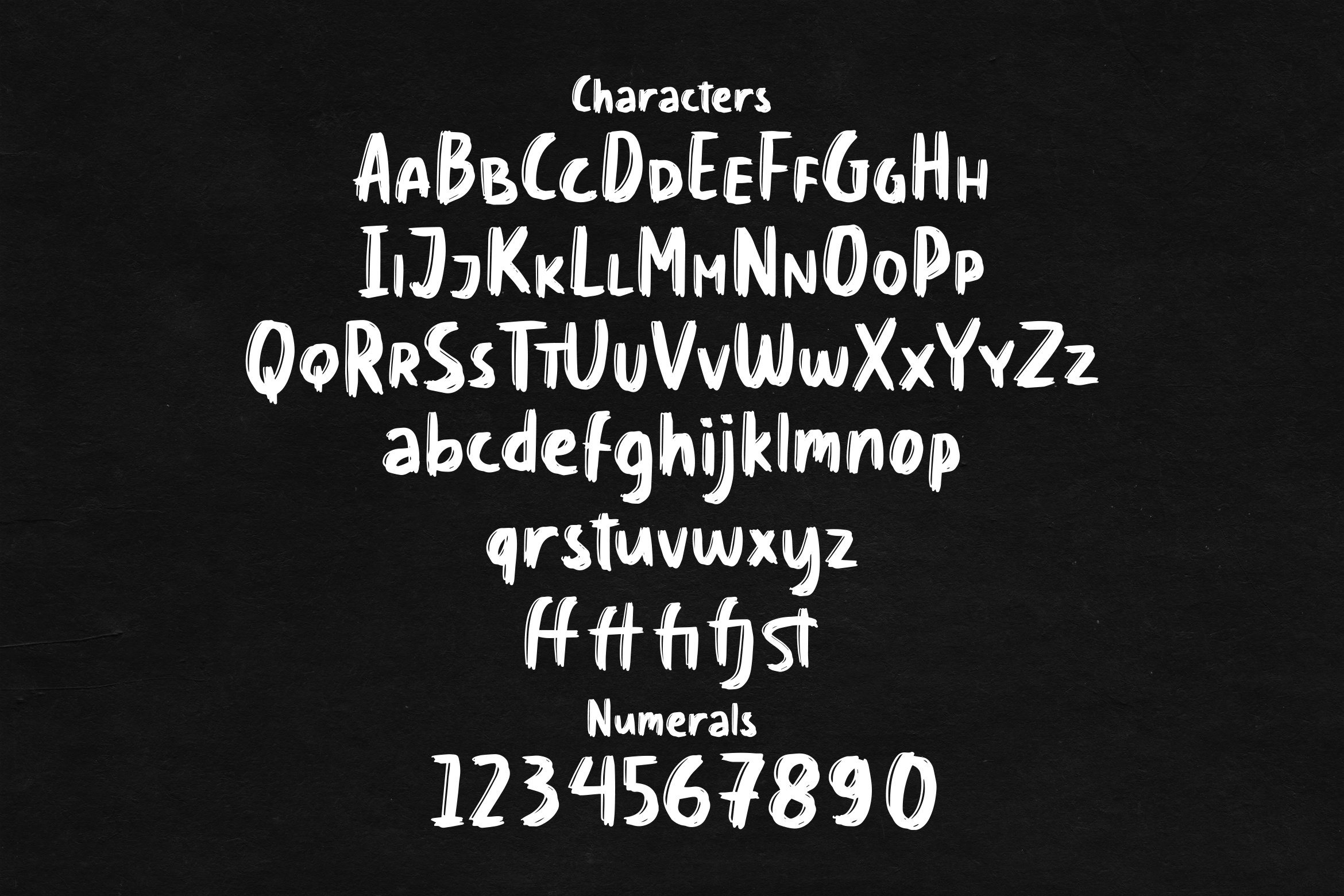 Chalkies - Solid Chalk Font example image 3