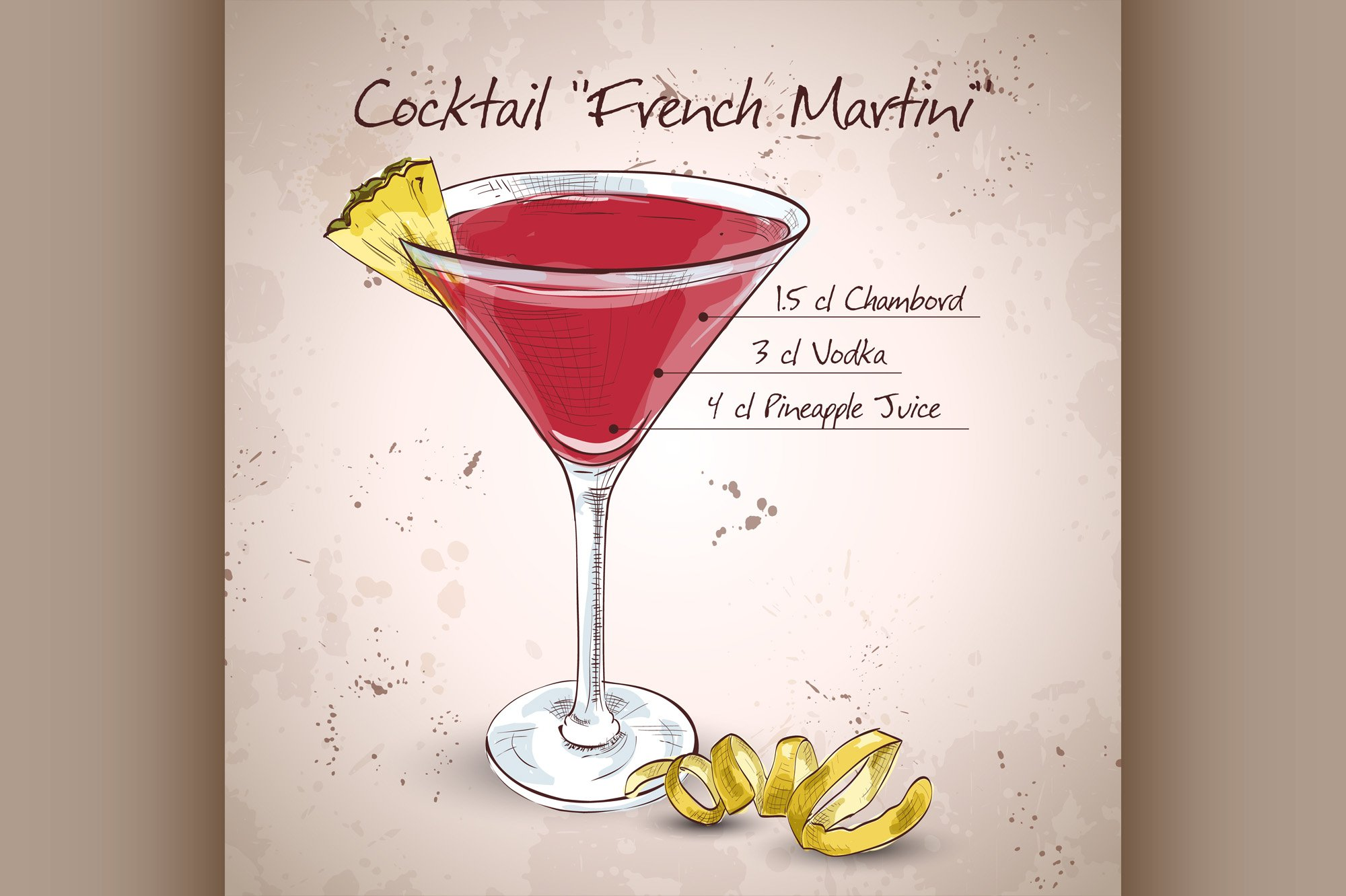 French Martini cocktail example image 1