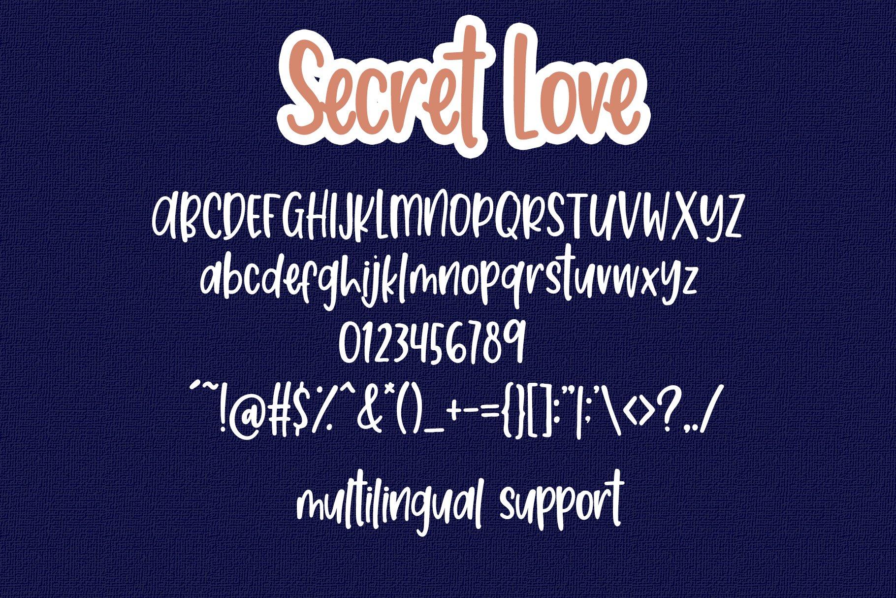 Secret Love - Handwritten Font example image 7