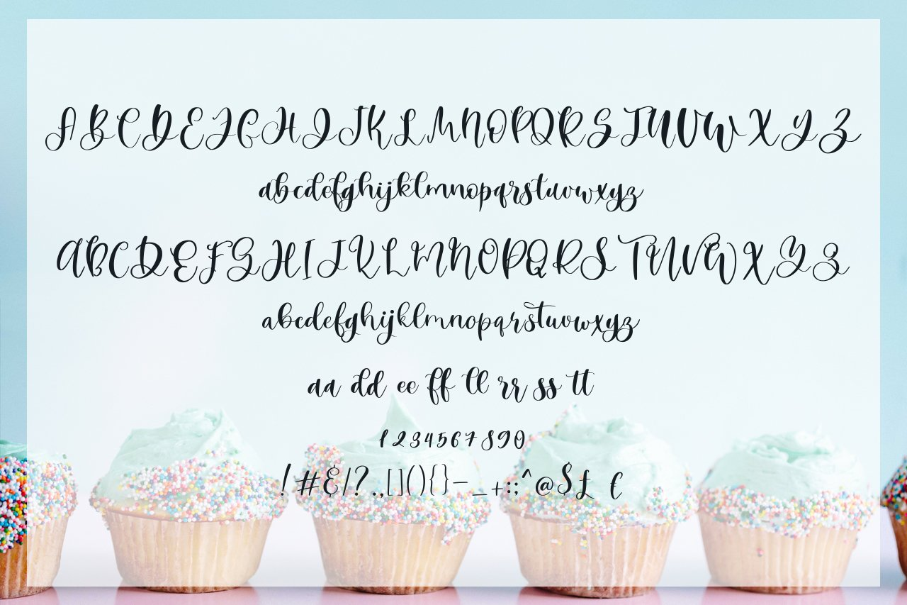 Mint Cupcake Font Duo example image 5