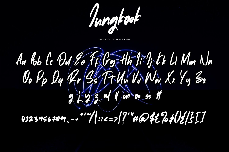 Jungkook - Handwritten Brush Fonts example image 2