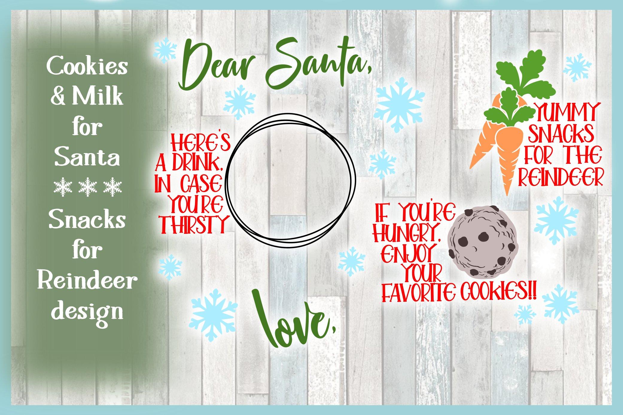 Dear Santa Milk And Cookies Christmas Eve Plate Svg 376229 Cut Files Design Bundles