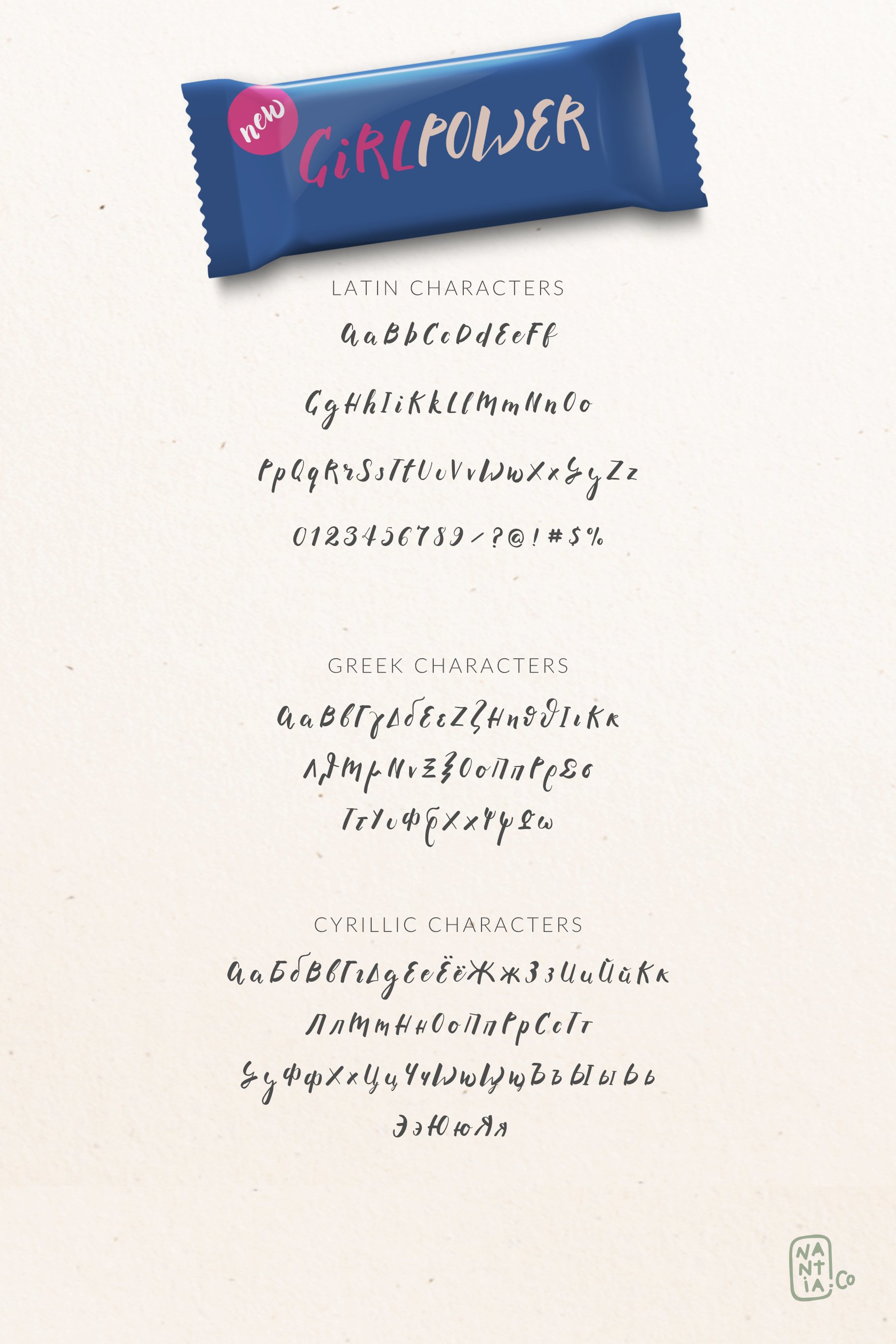 Brush Font Pack example image 6
