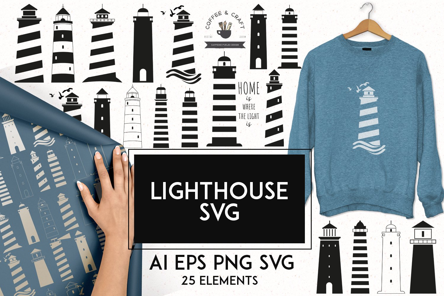 Lighthouse SVG example image 1