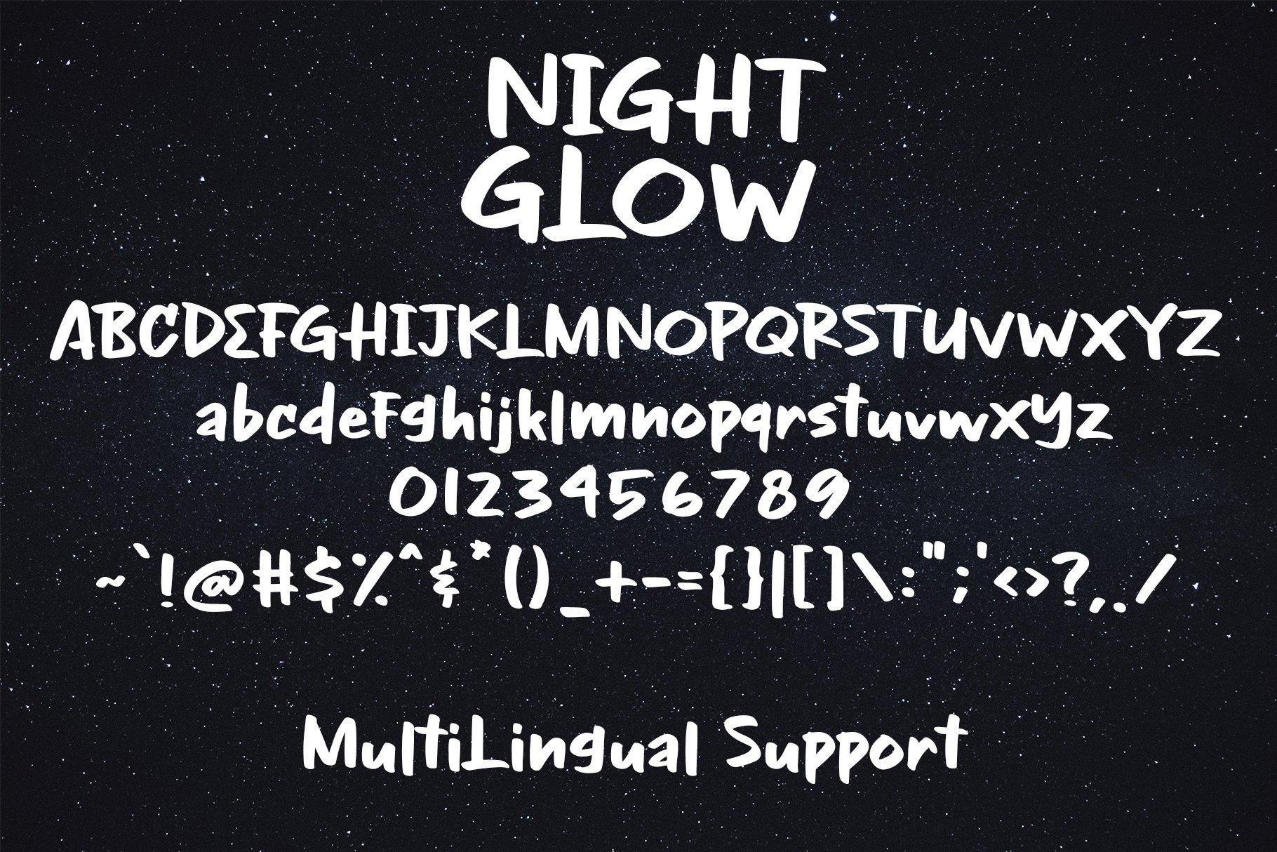 NIght Glow - Handwritten Font example image 7