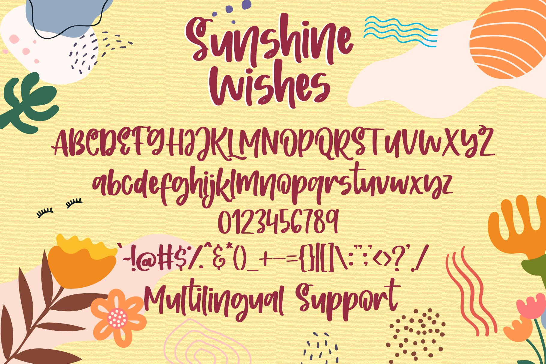 Sunshine Wishes - Handwritten Font example image 5