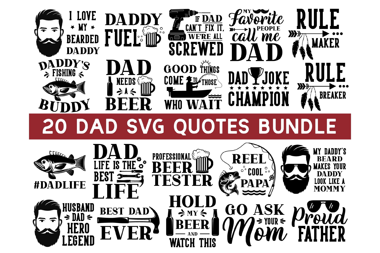 Dad Life Svg Bundle Dad Svg Daddy Svg Father S Day Svg 652248 Hand Lettered Design Bundles