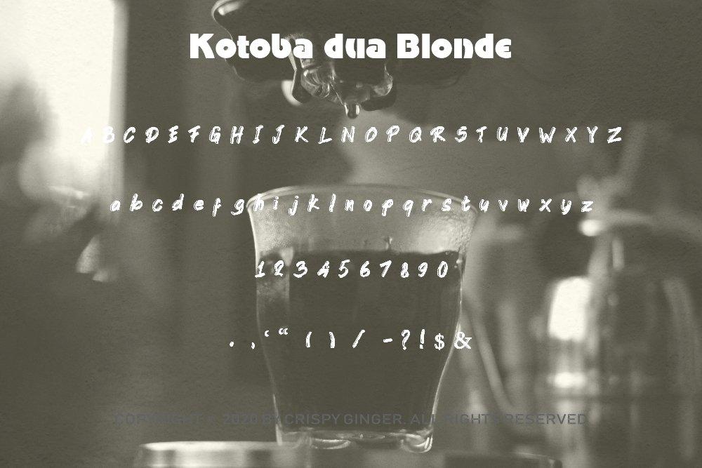 Kotoba Dua - 22 Font styles and 150 Swashes example image 10