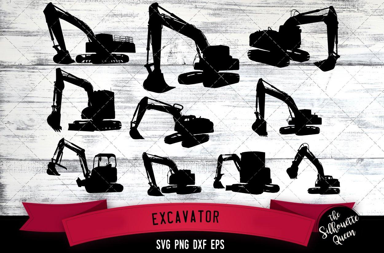 Excavator Svg File Construction Svg Cut File 244520 Illustrations Design Bundles
