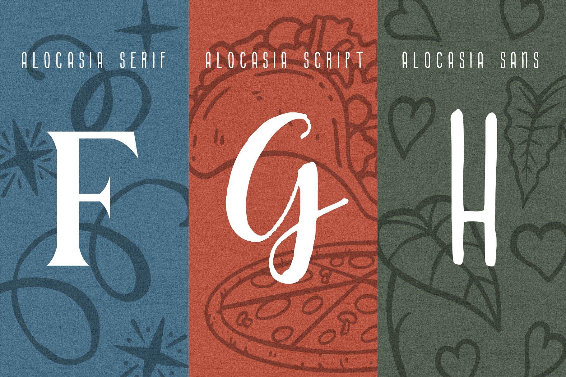 Alocasia-Trio Font Combination example image 5