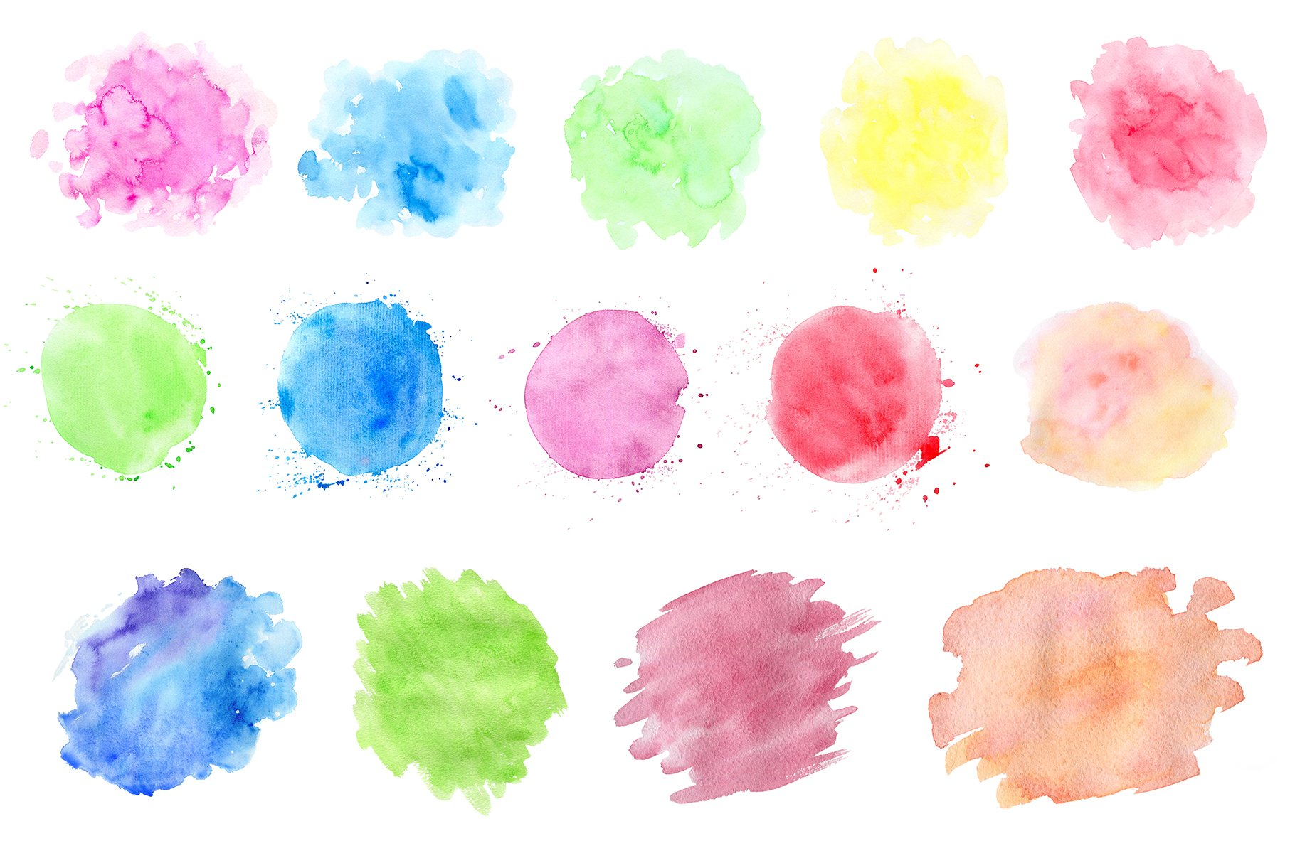 Watercolor Blots and Patterns example image 4
