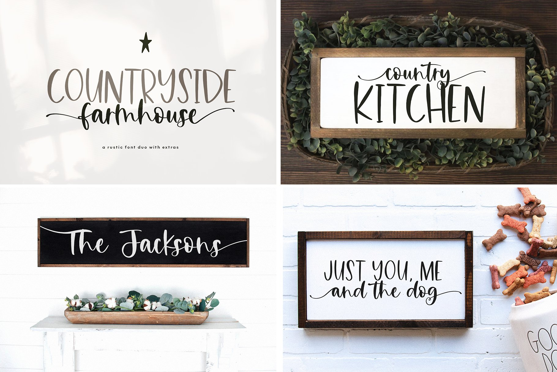Farmhouse Font Bundle - Handwritten Fonts for Crafters! example image 2