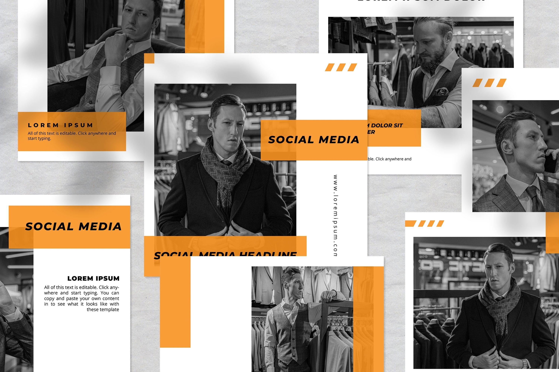 Man Fashion Instagram Social Media Template example image 2