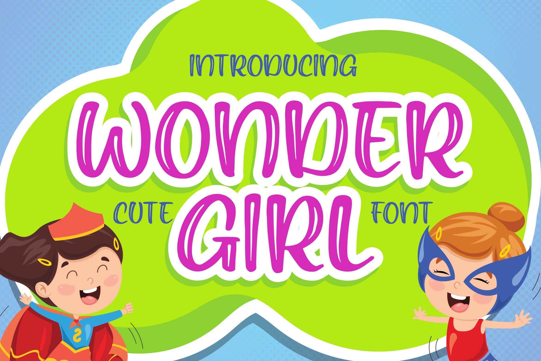 Wonder Girl - Cute Font example image 1