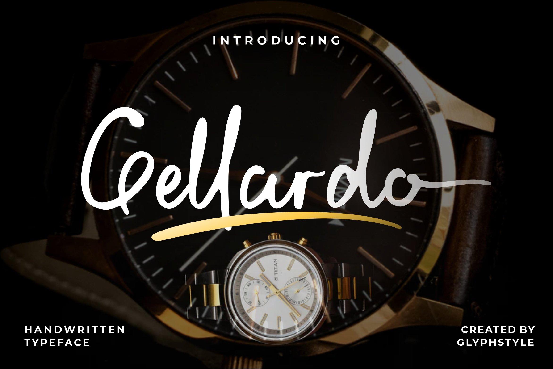 Gellardo Handwritten Typeface example image 1