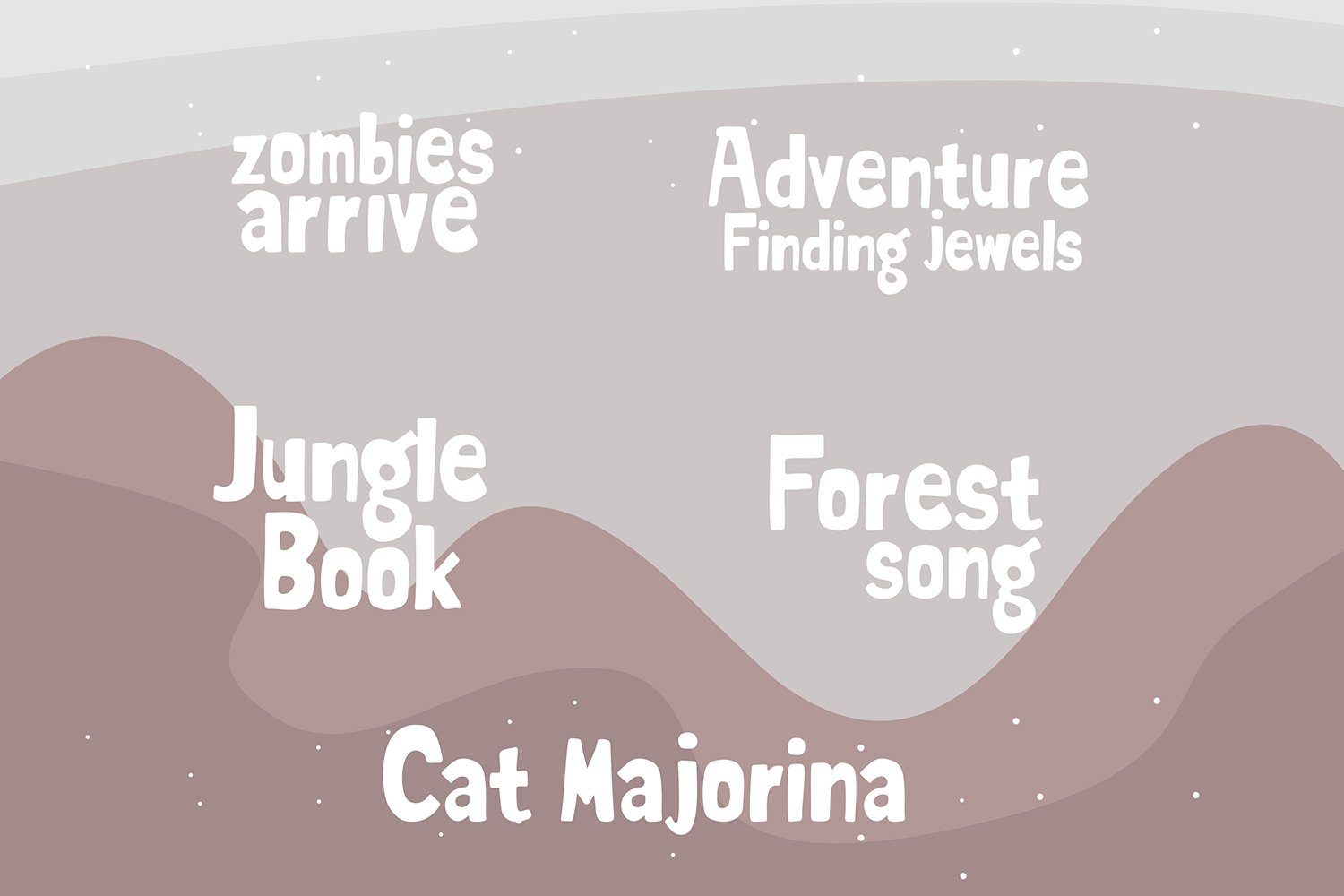 carlie marsento Display font example image 3