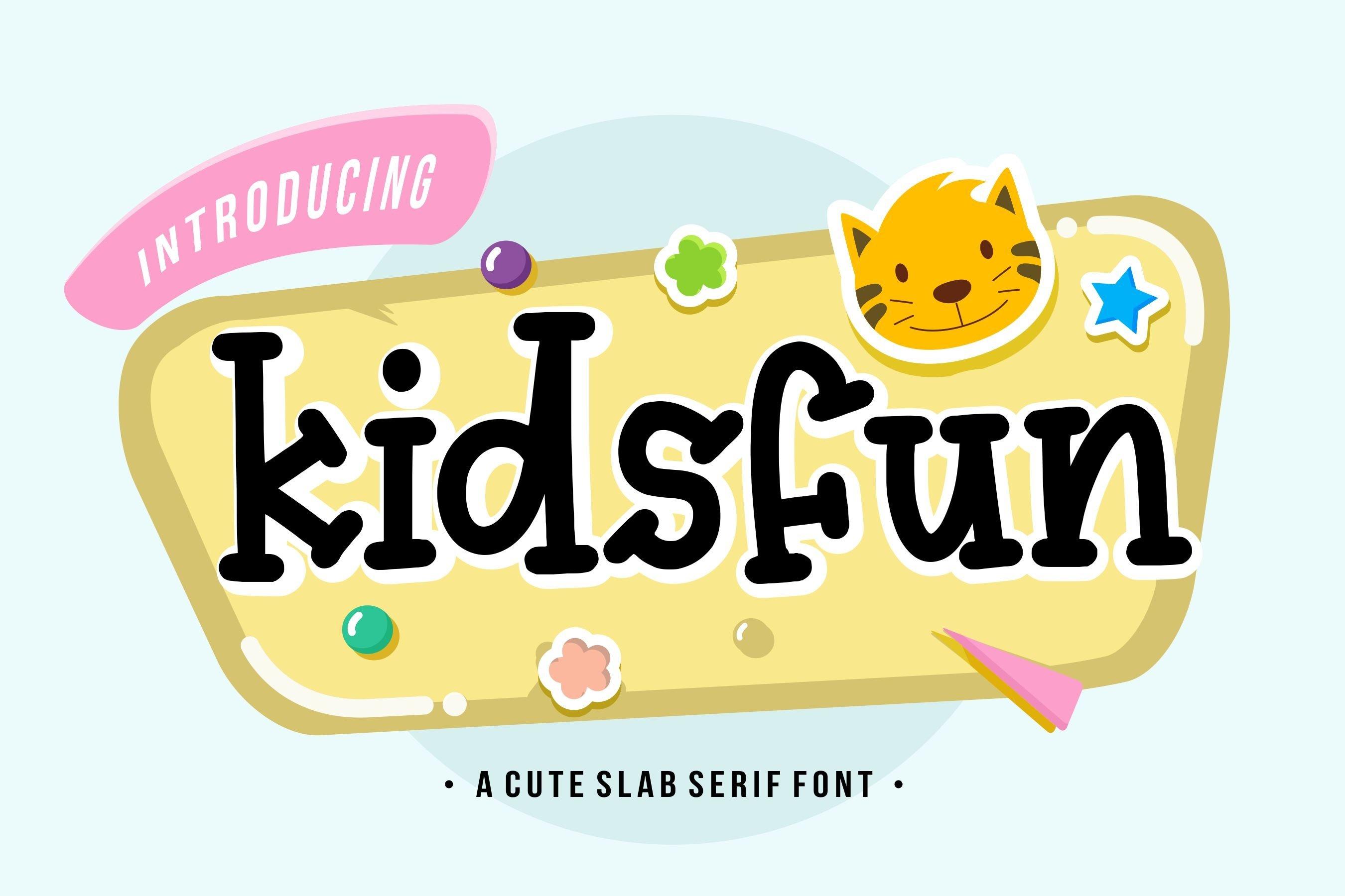 Kidsfun Cute Slab Serif Font example image 1