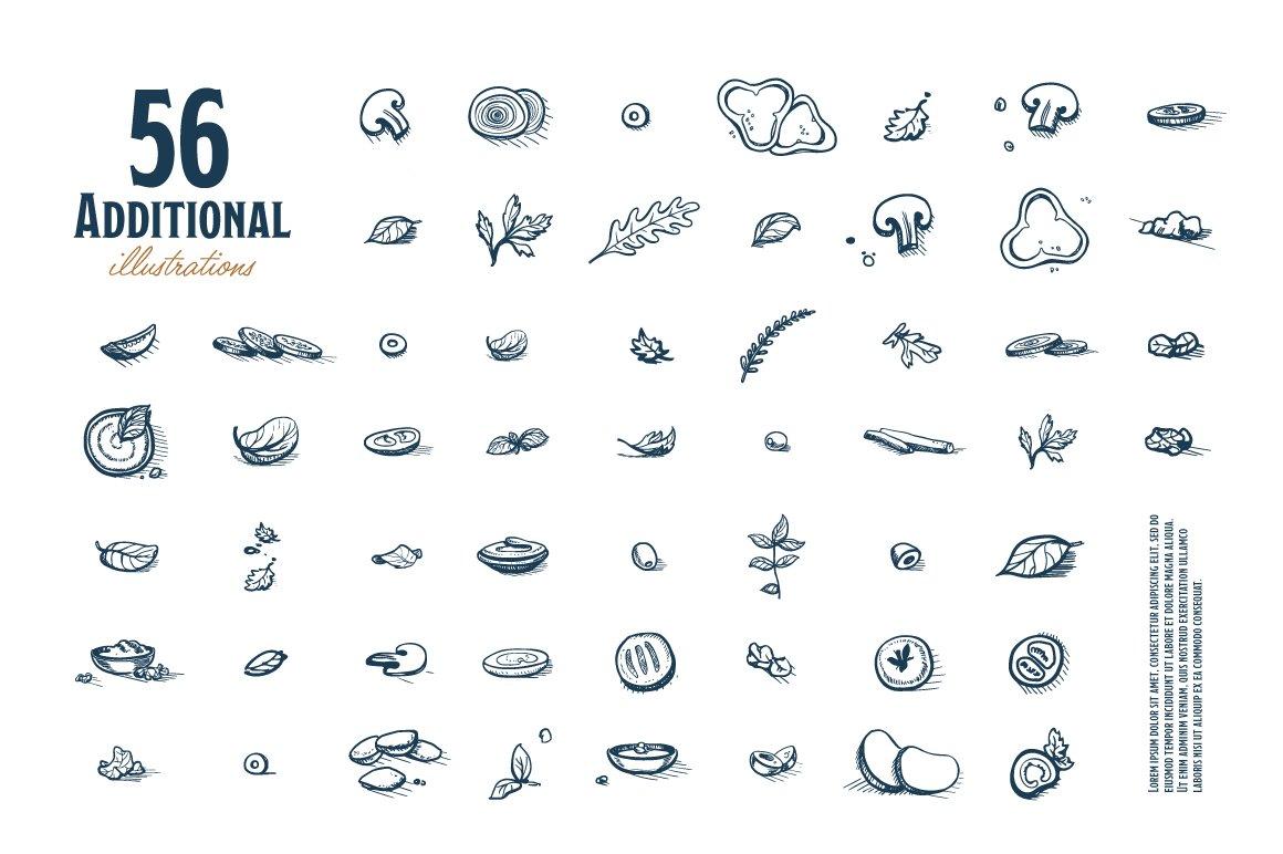 Fast Food Hand Draw Illustration Set example image 10