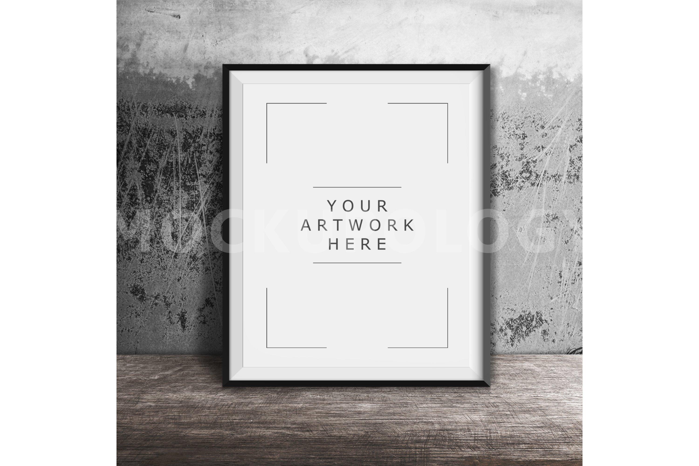 Black Frame on White Wall Background 40x60 Digital Frame Mockup Styled Photography Mockup DIGITAL FILE DOWNLOAD