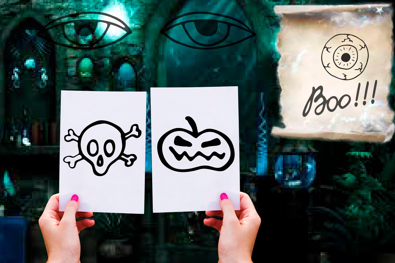 Doodle Halloween set. Digital elements example image 3