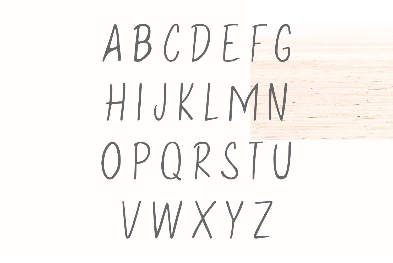 Eadfrith Handwirtten Sans Serif Font example image 5