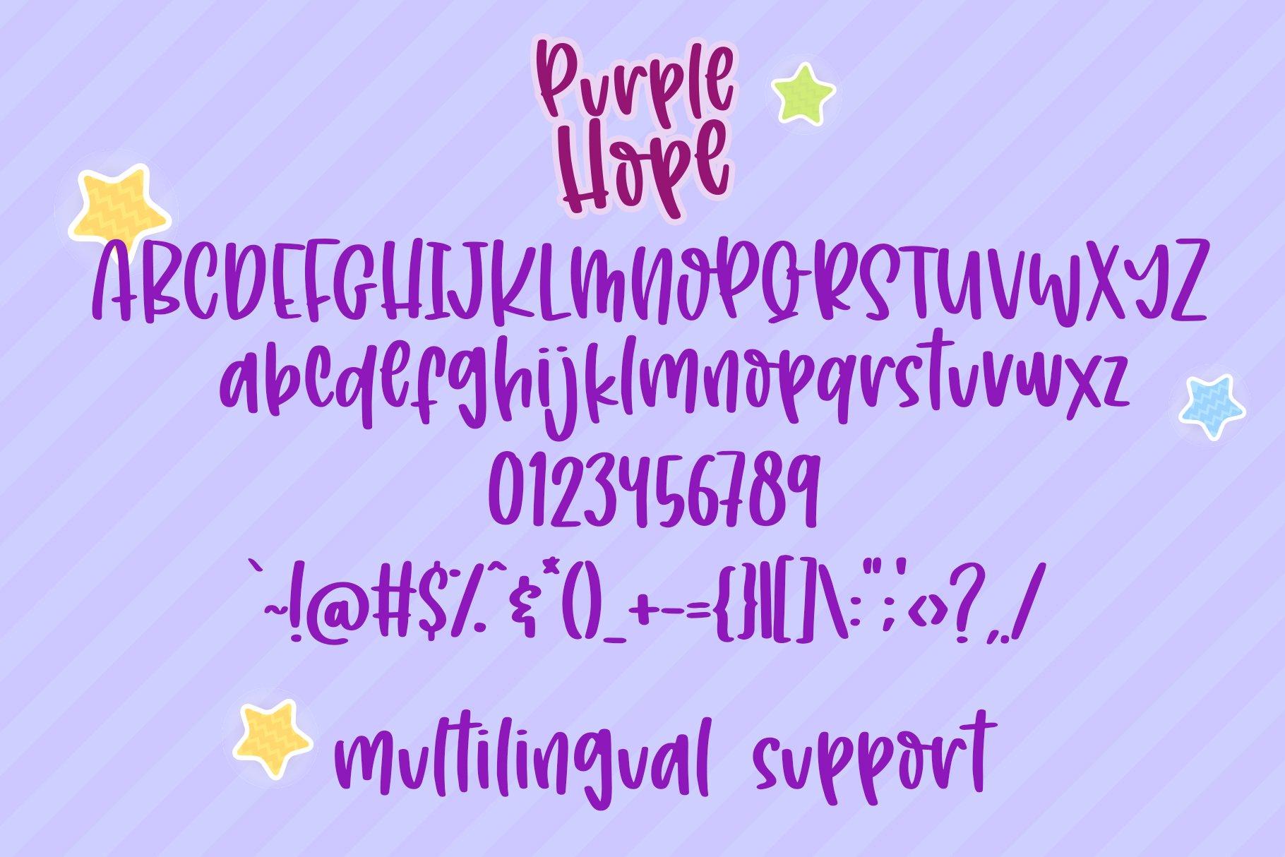 Purple Hope - Handwritten Font example image 5