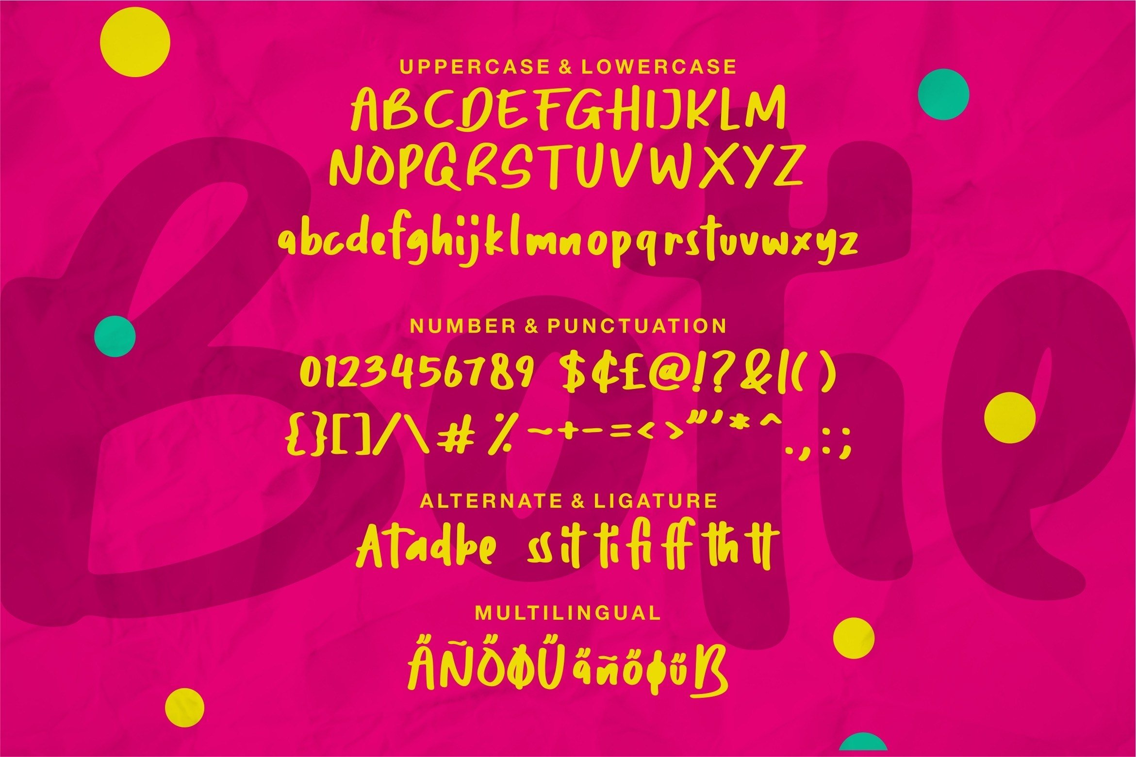Botie - A Cute Handdraw Font example image 4