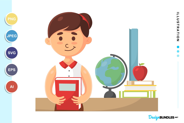 Woman Teacher Illustration example image 1