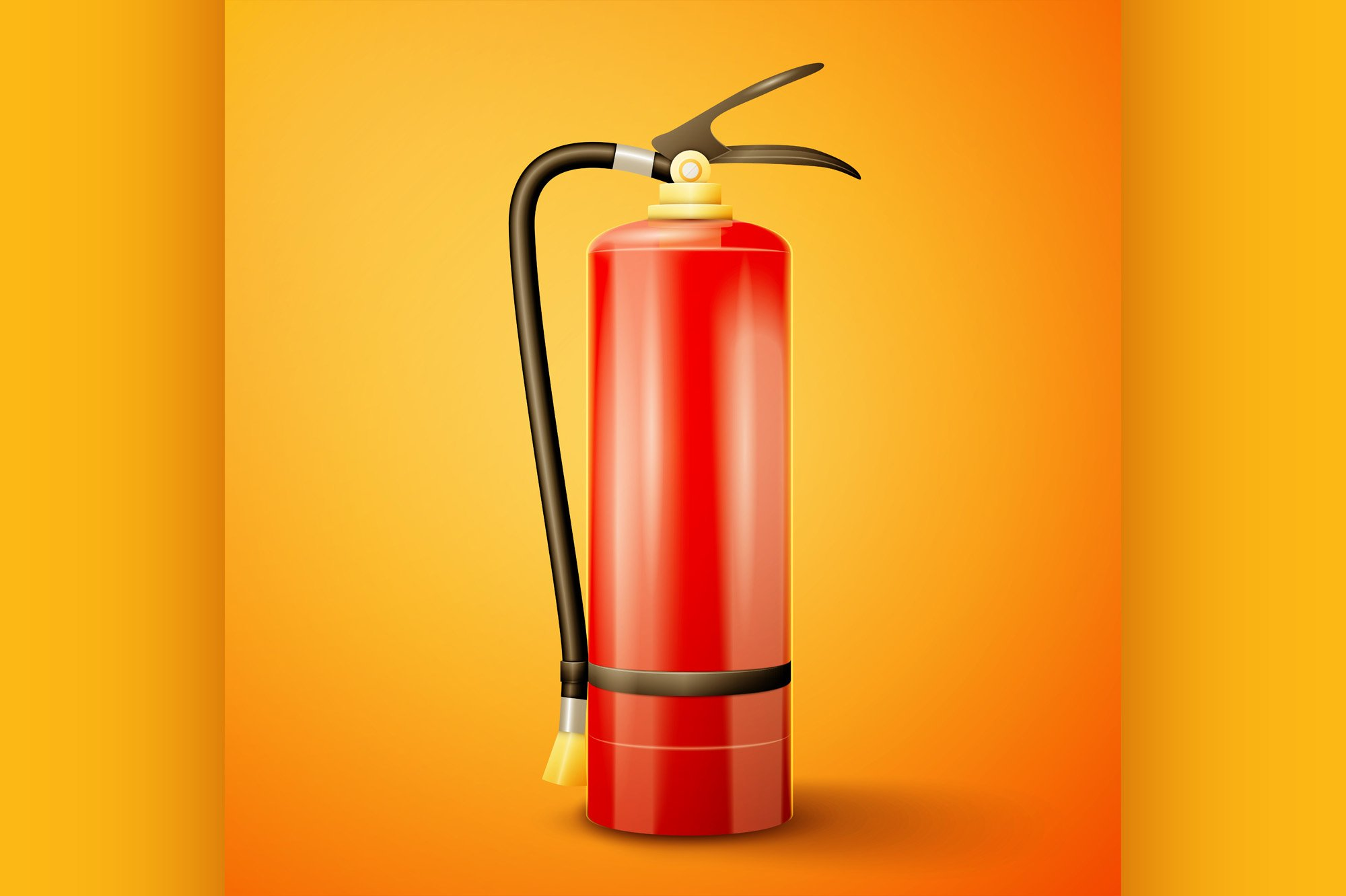 Red Fire extinguisher example image 1