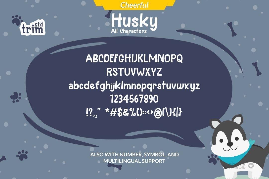 Husky - Fun Holiday Font example image 2