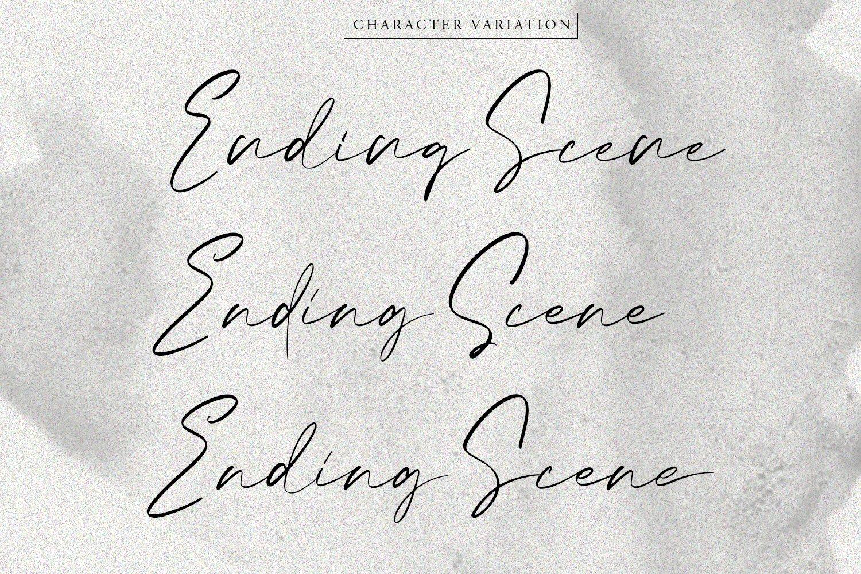 Ending Scene | Calligraphy Font example image 2